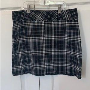Stretchy Plaid Mini Skirt